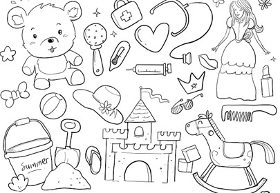 baby hand sketch drawn toy doodle