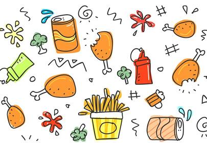 cute sketch set child fun funny
