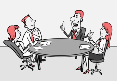 business meeting clipart doodle style