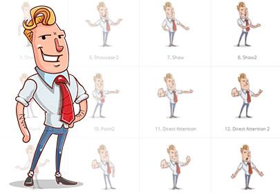 vector businessman cartoon character design