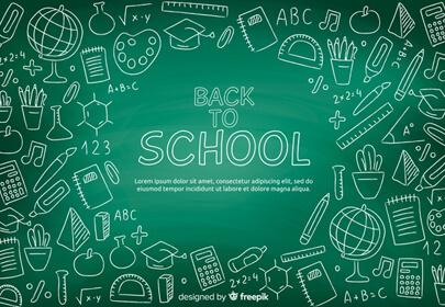 blackboard back school background