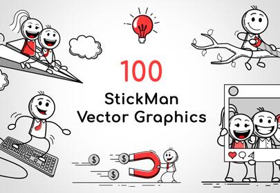 stickman vector graphics