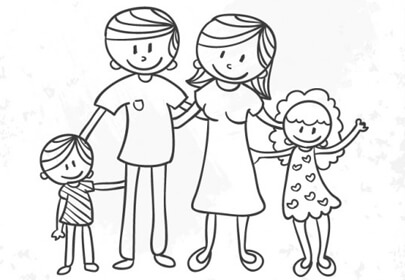 sketched family drawings