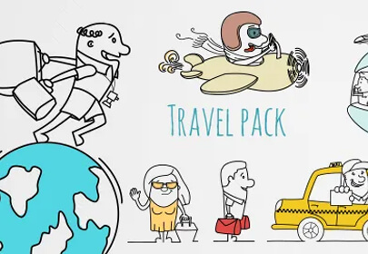 outline travel graphic pack