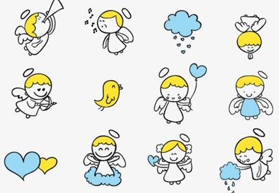 cute little angel cartoon