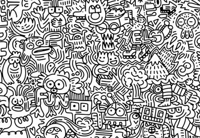 hand drawn vector illustration doodle funny world