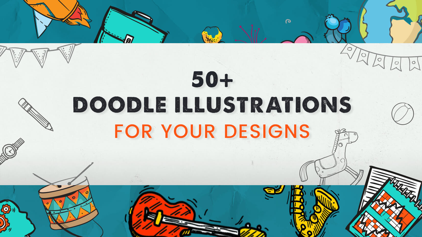 50+ Doodle Illustrations for your Designs (Free and Paid)
