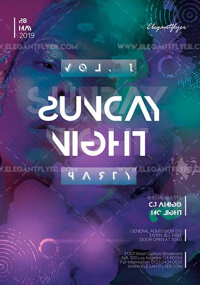 club nocturno el sábado plantilla de volante psd gratis