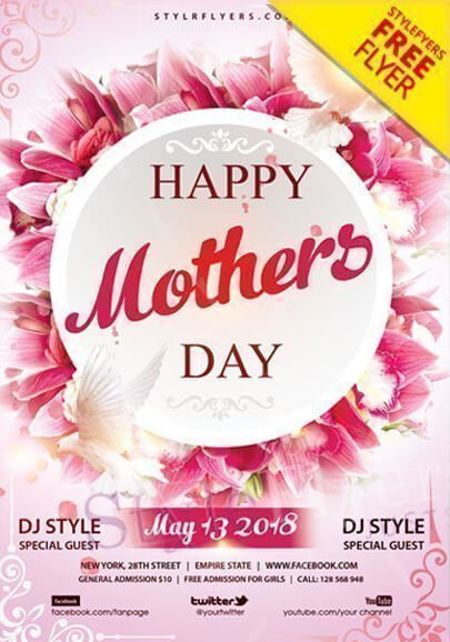 mothers day free flyer psd