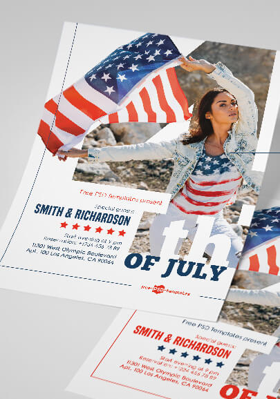 free 4th of july flyer in psd