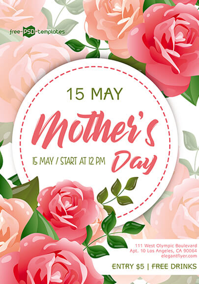 free mothers day flyer in psd