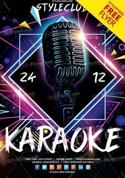 plantilla de volante psd karaoke gratis