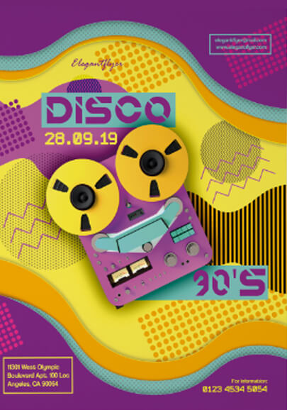 disco free psd flyer template