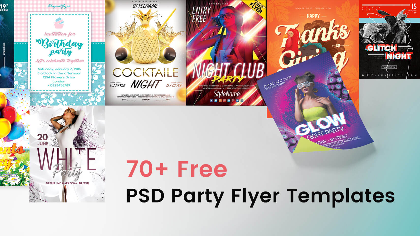free psd party flyer templates