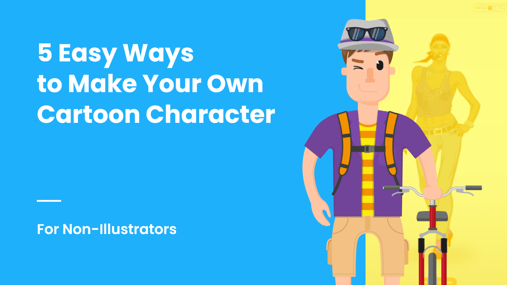 5 Ways To Make Your Own Cartoon Character For Non Illustrators