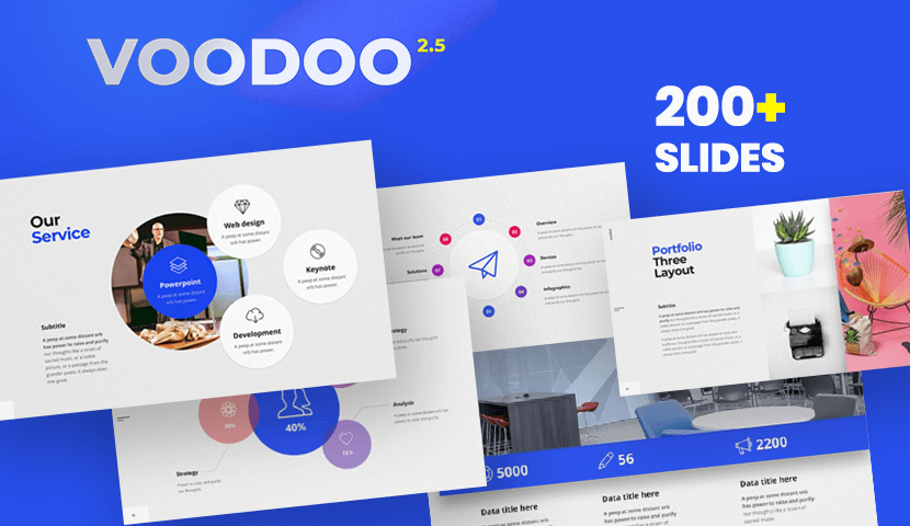 Voodoo 2.5 Free Powerpoint Template with Animations