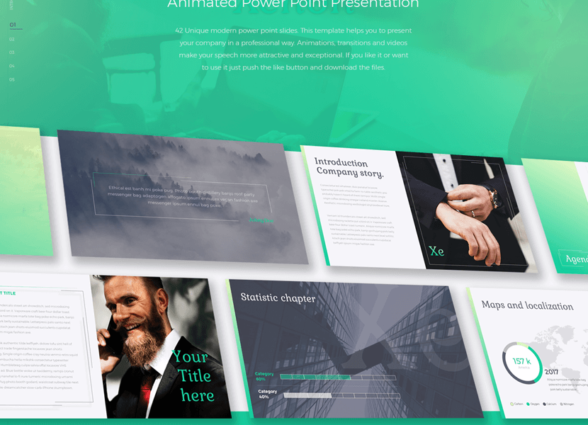 Free Xe PowerPoint Modern Business Minimal Template