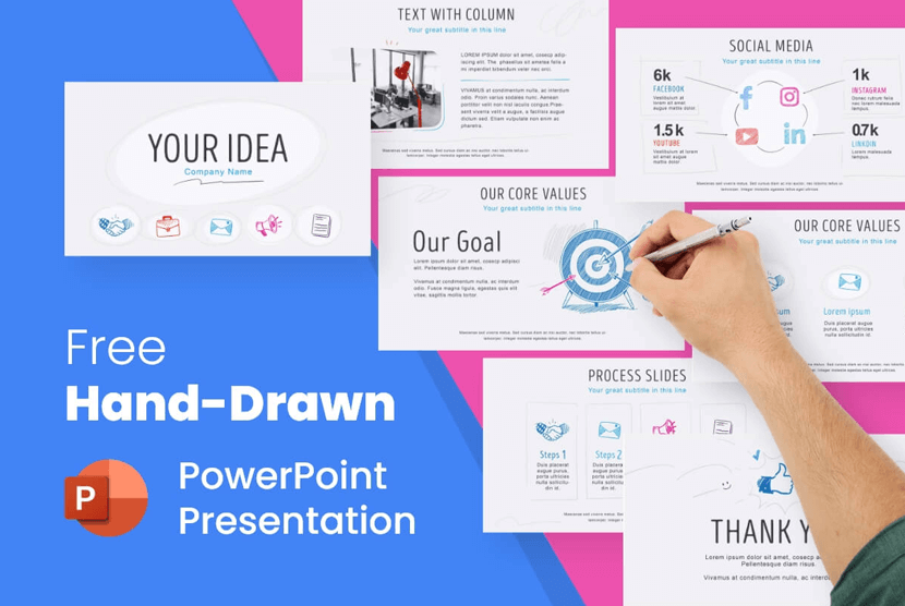 Free Hand-Drawn PowerPoint Presentation Template