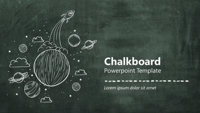 Chalkboard Themed PPT Template