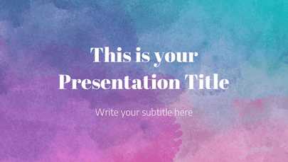 Evelyn Watercolor Powerpoint Template