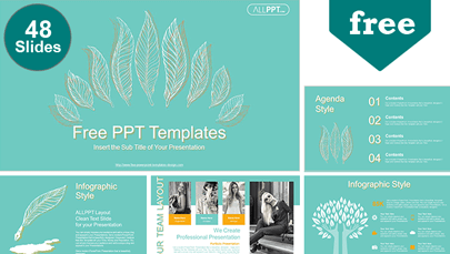 Leaves Pattern Powerpoint Template