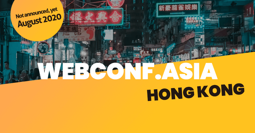 Webconf Asia 2020