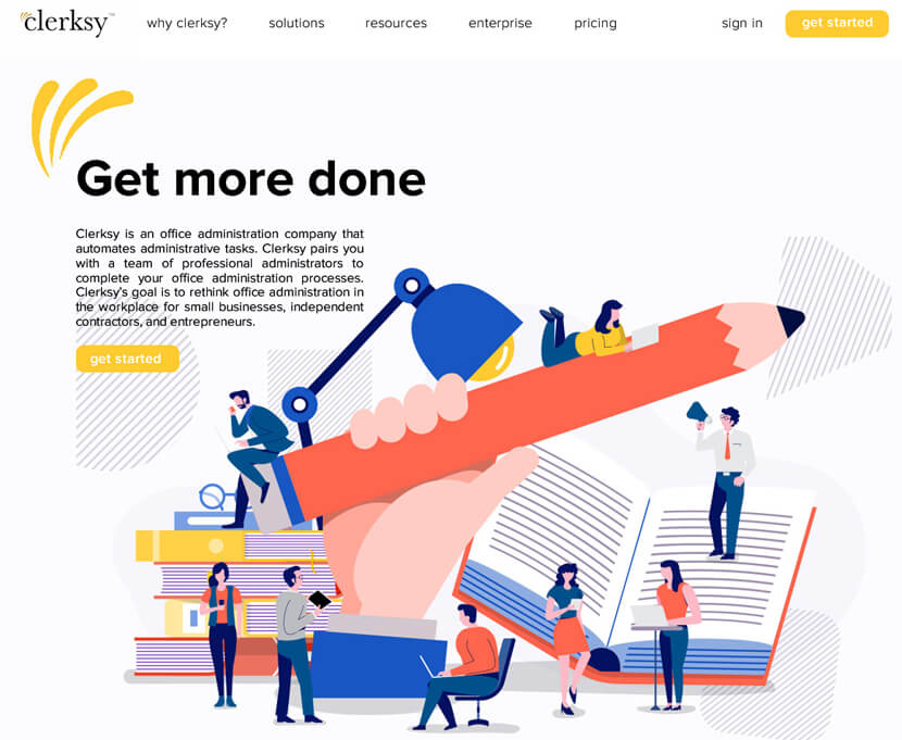 Clerksy website design