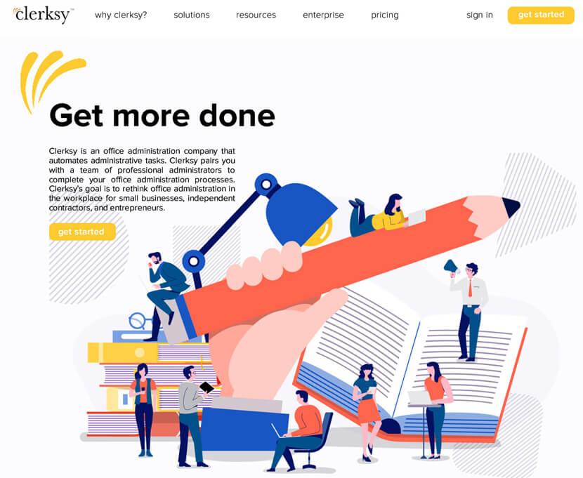 Clerksy дизайн сайта