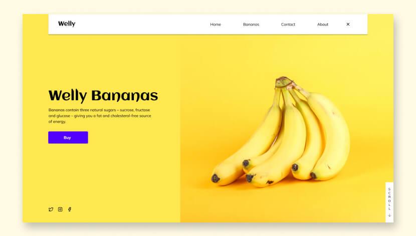 WELLY BANANAS Дизайн веб-сайтов