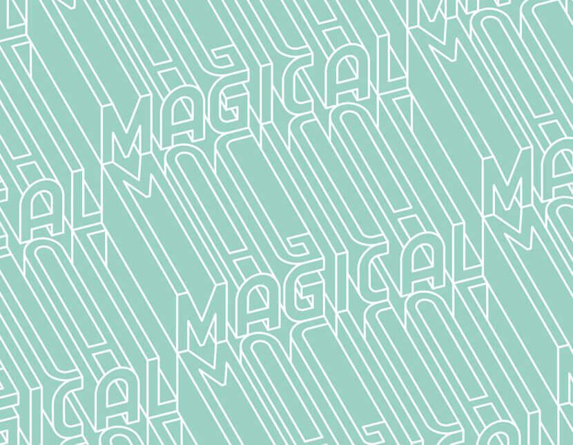 Типографский узор 3D Создание букв