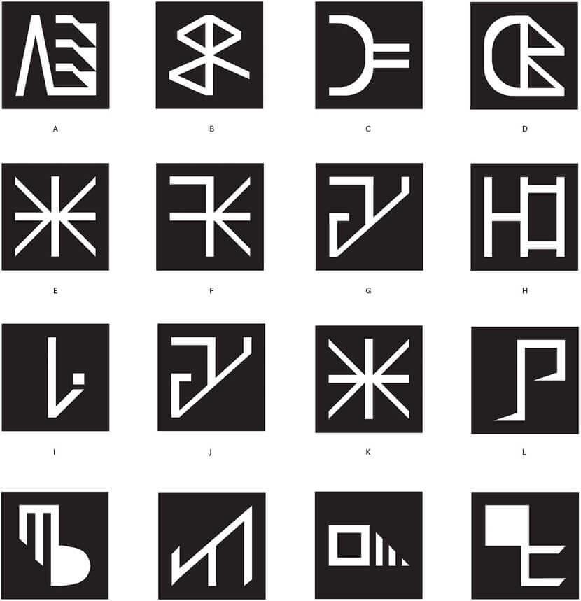 Szyfr - шрифт абстрактной типографии