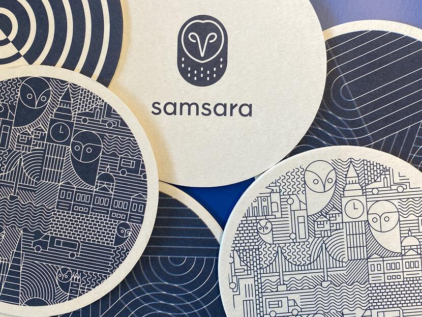 Coasters print design example