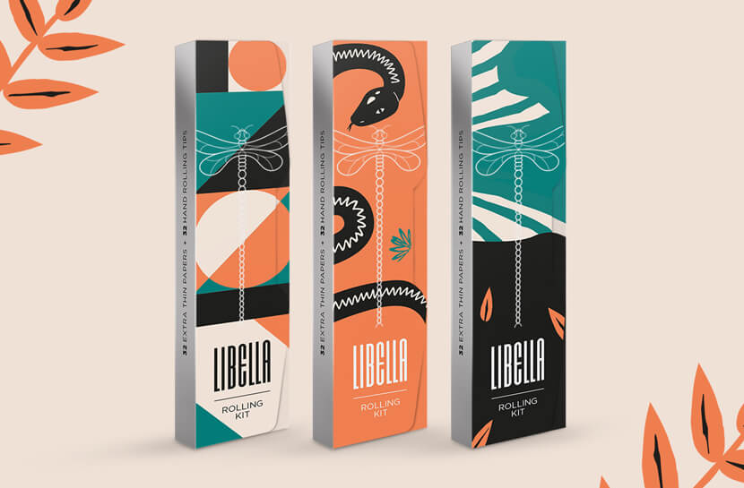 Libella Limited Illustrated package design