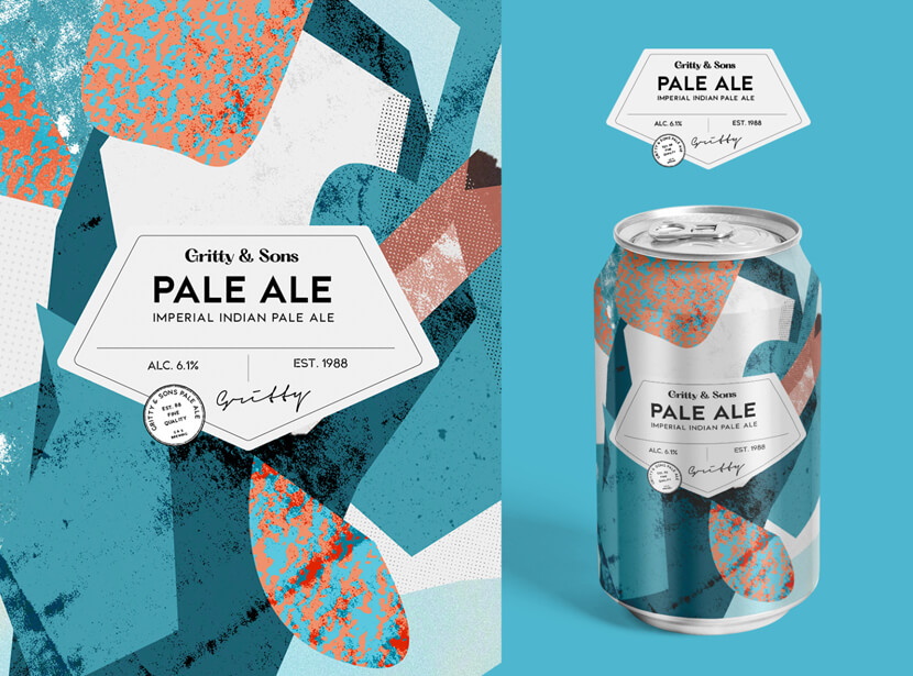 Gritty Sons Pale Ale creative design 2020