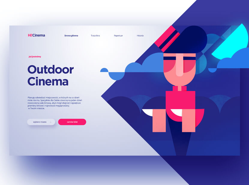 OUTDOOR CINEMA Geometry style design example