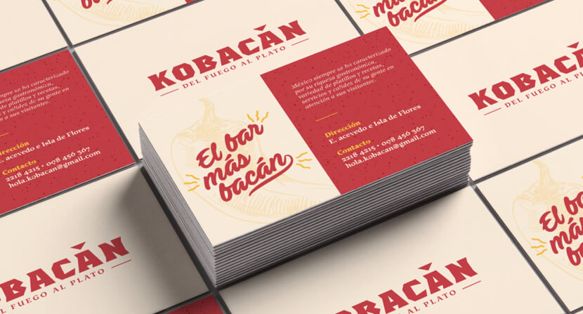 Kobacan Illustrated Business Cards Example