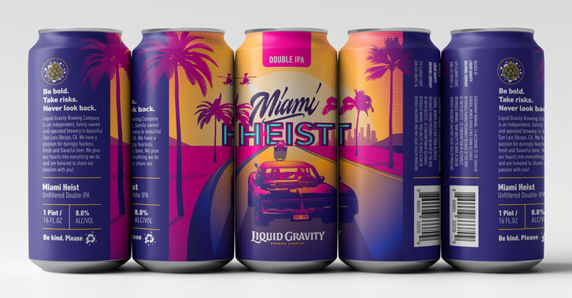 Miami Heist Double IPA Creative Design Concept