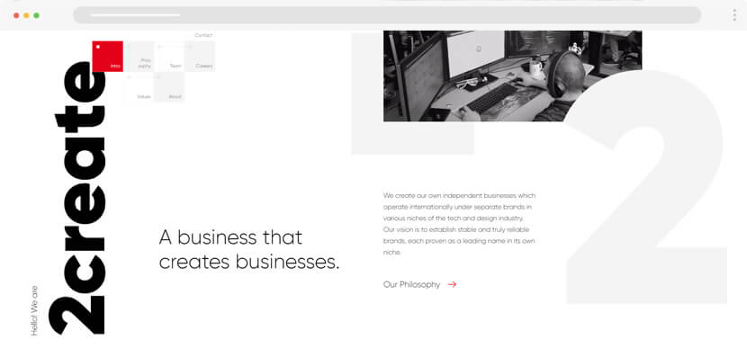 2create studio web development