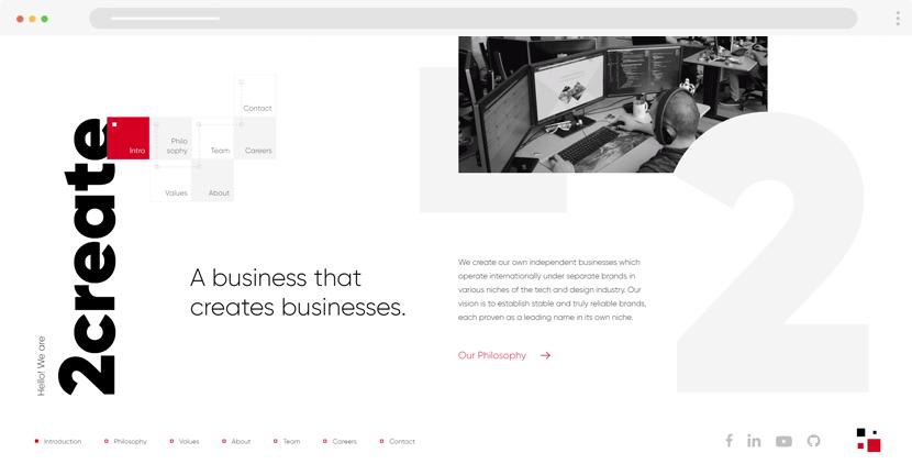 2create website