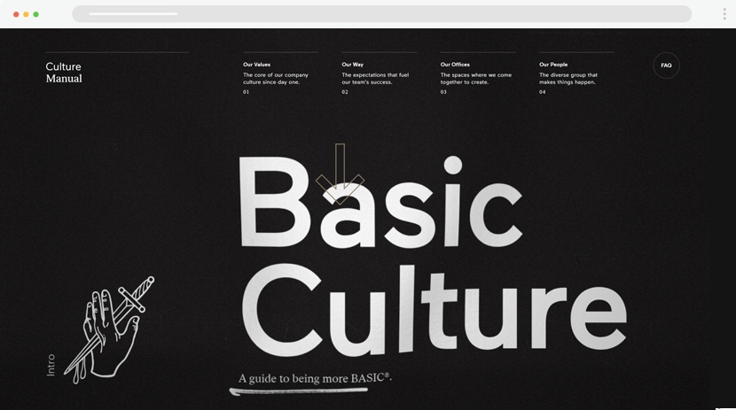 culture basicagency website