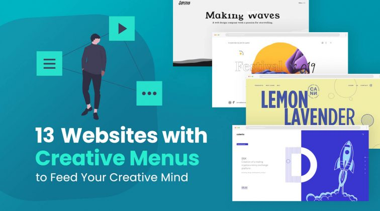 websites with creative menus for inspiration