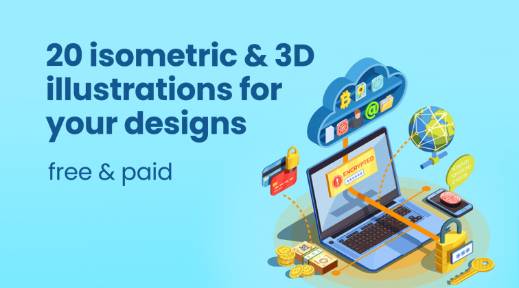isometric and 3d illustrations