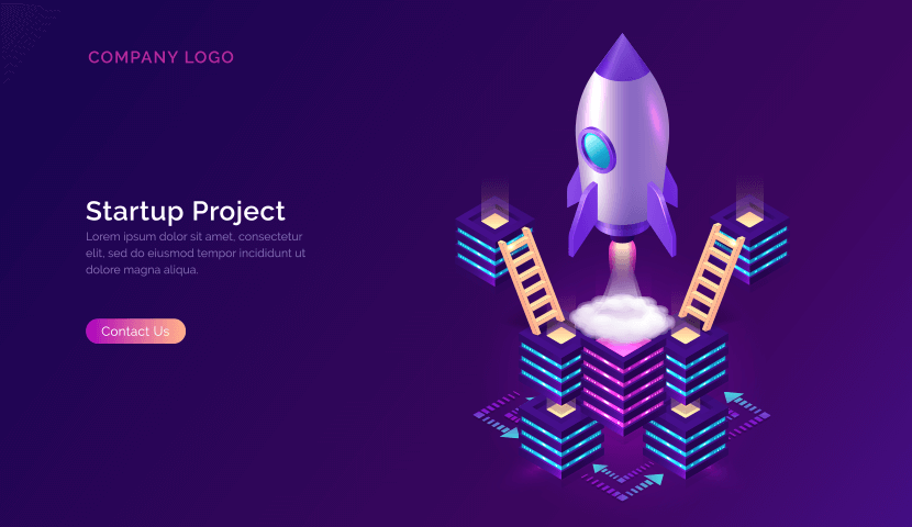 business startup cooperation support isometric