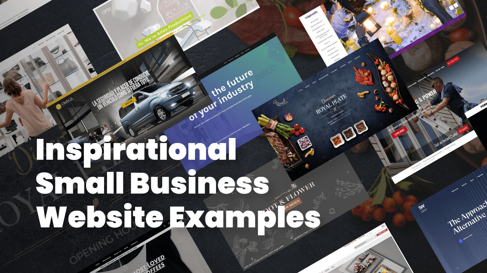 Inspirational Small Business Website Examples
