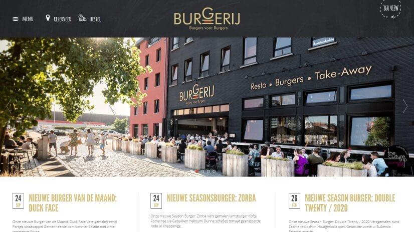 burgerij.be - small business website design