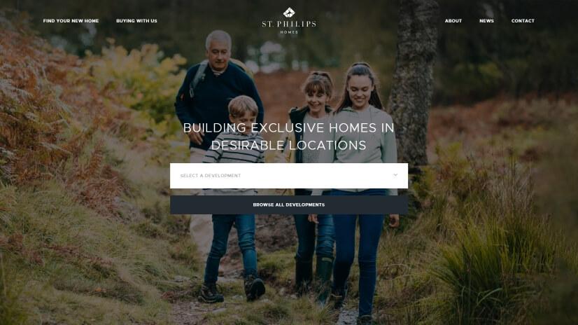 stphilipshomes.co.uk - small business website design