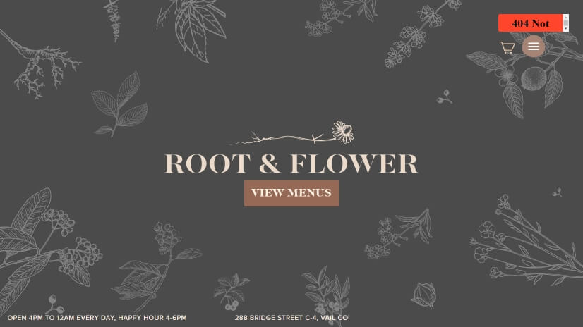 rootandflowervail.com - small business website design