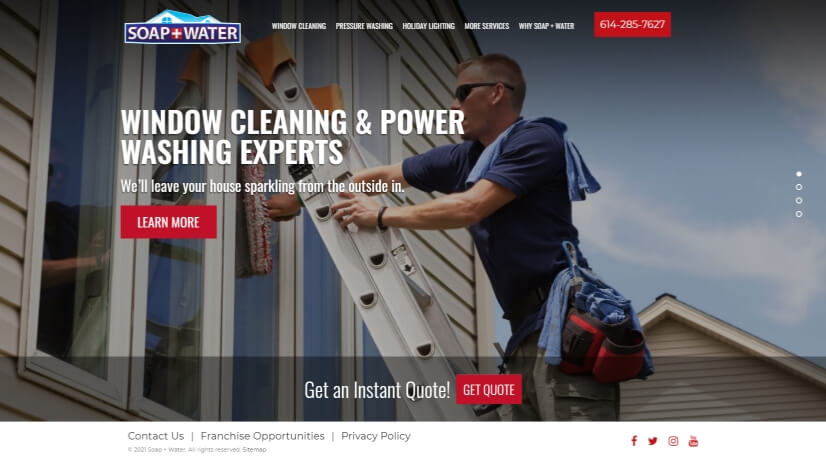 soapwater.com - small business website design