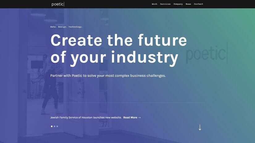 poetic.io - small business website design