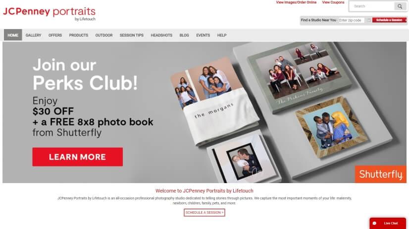 jcpportraits.com - small business website design